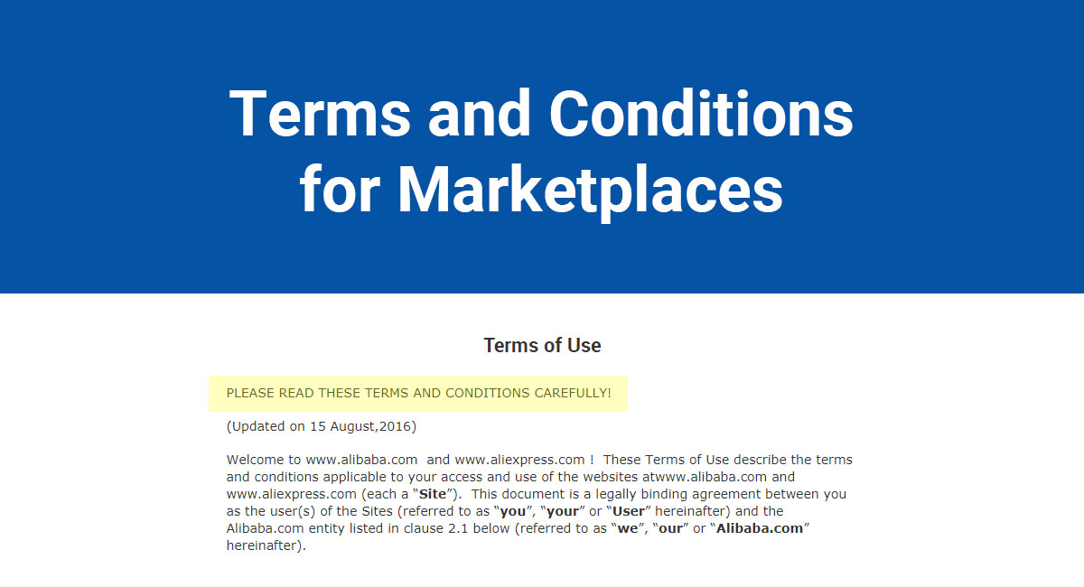 Terms Of Use >> Terms And Conditions For Marketplaces Termsfeed