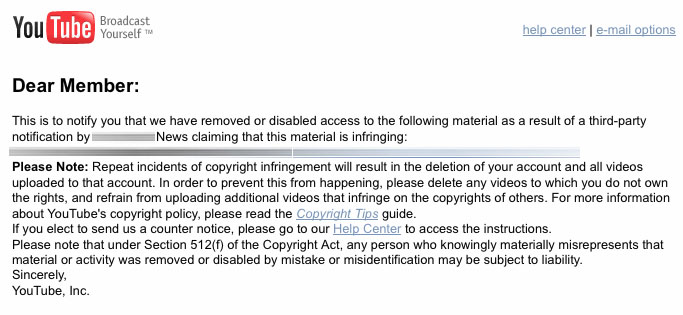 Dmca: Copyright Infringement Notices Outside The US