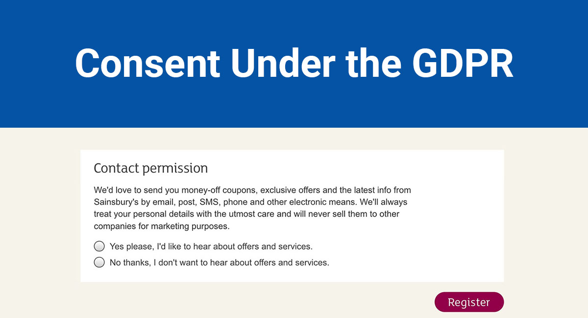 Image for: Consent Under the GDPR