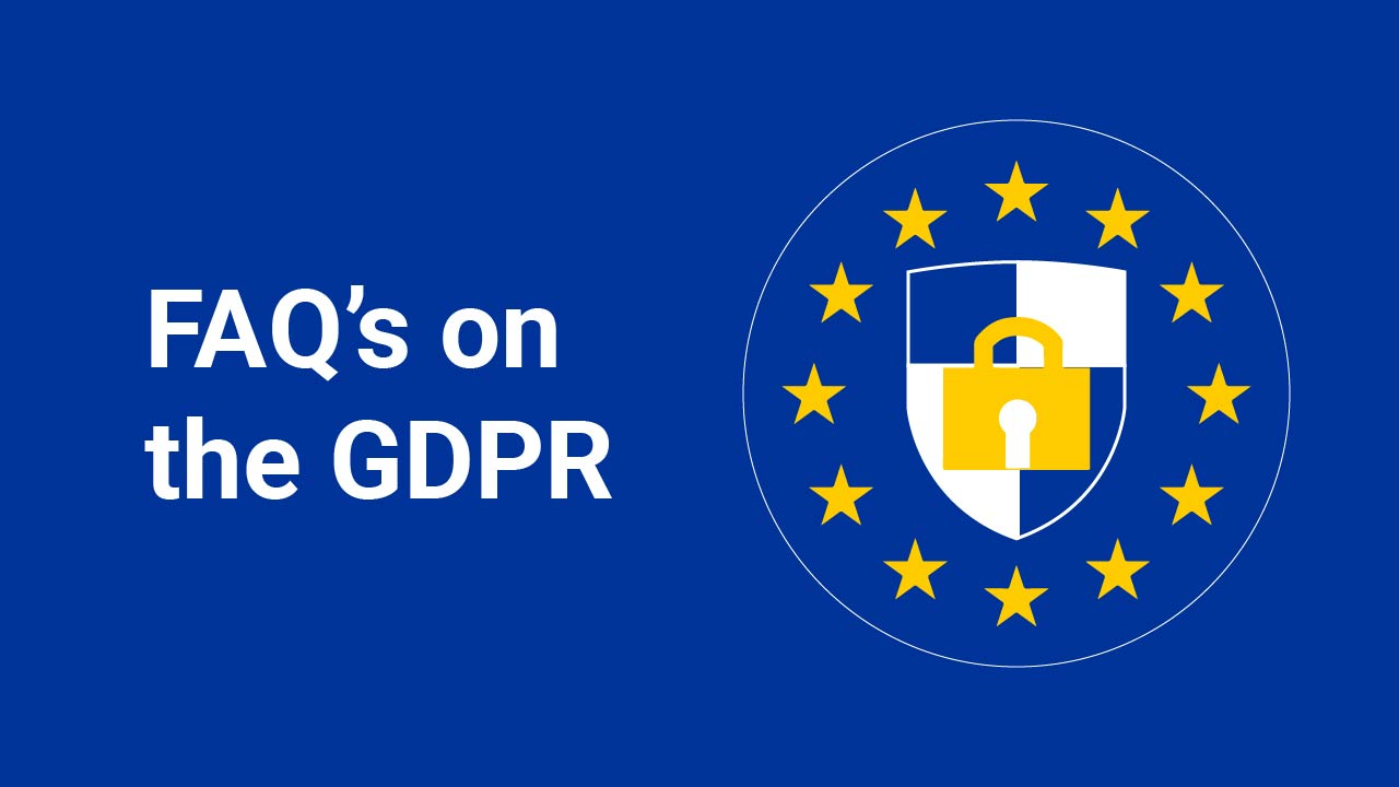 Image for: FAQ's on the GDPR