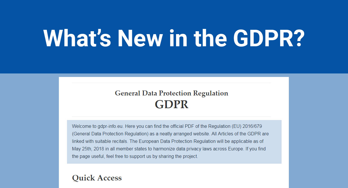 Image for: What's New in the GDPR?