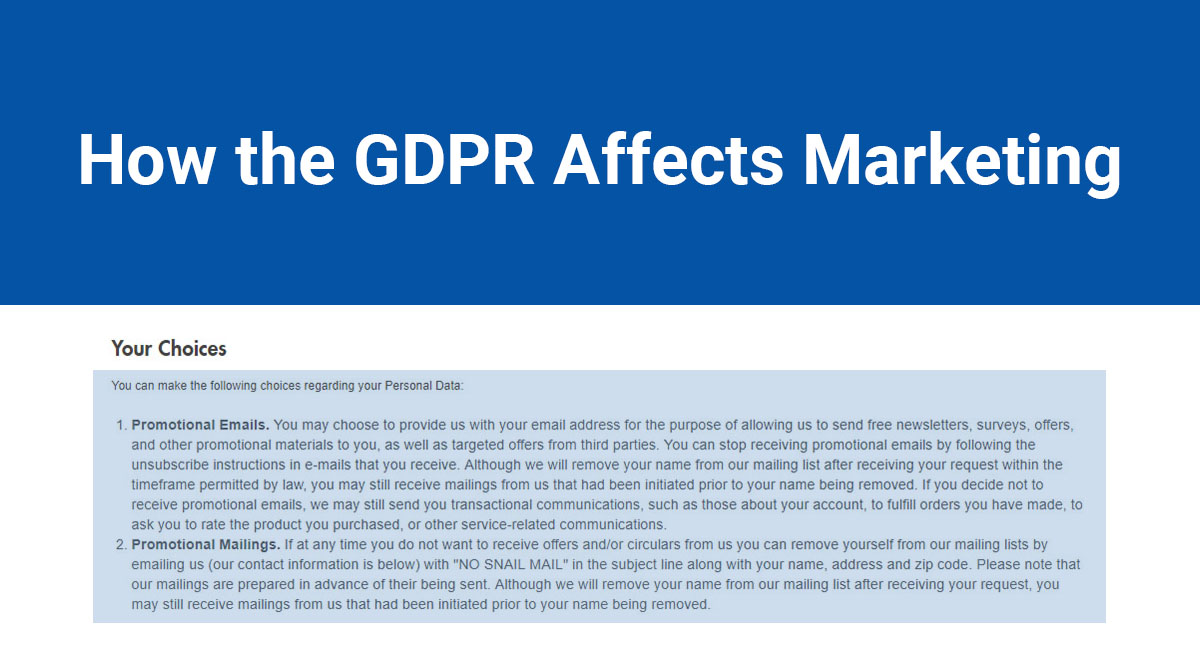 Image for: How the GDPR Affects Marketing
