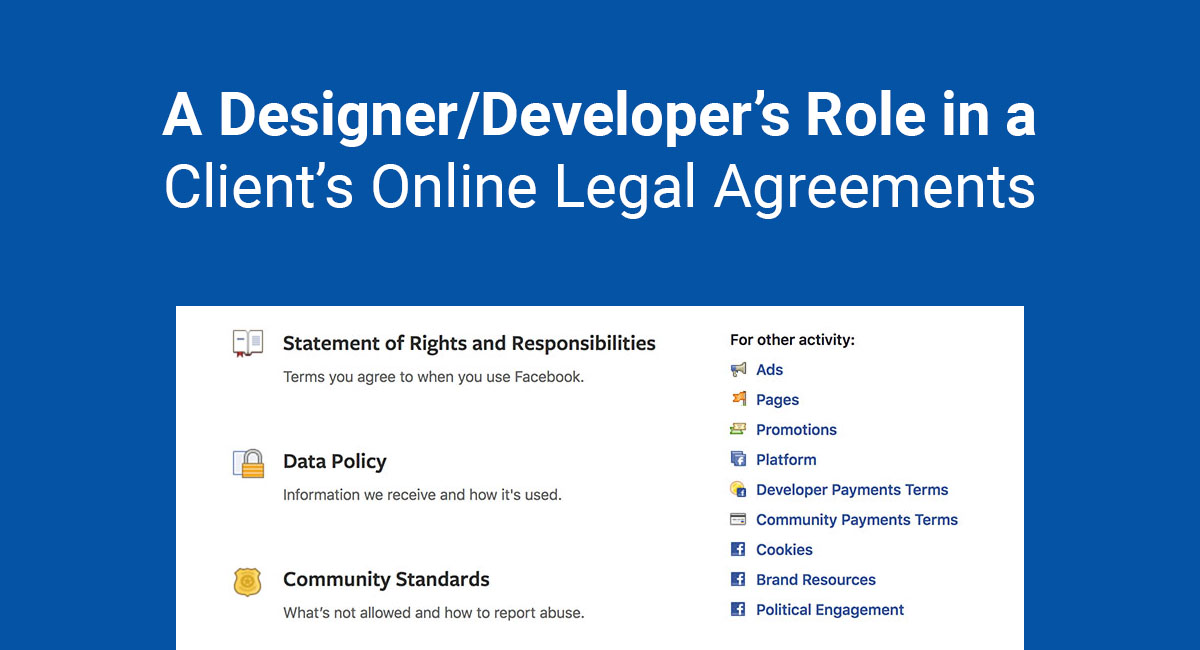Image for: A Designer/Developer's Role in a Client's Online Legal Agreements