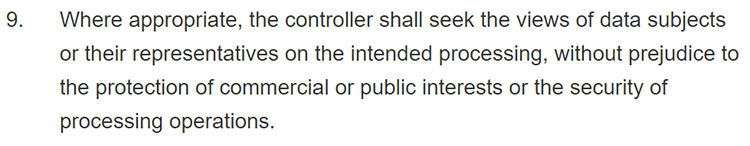 GDPR Article 35: Section 9: Member state representatives