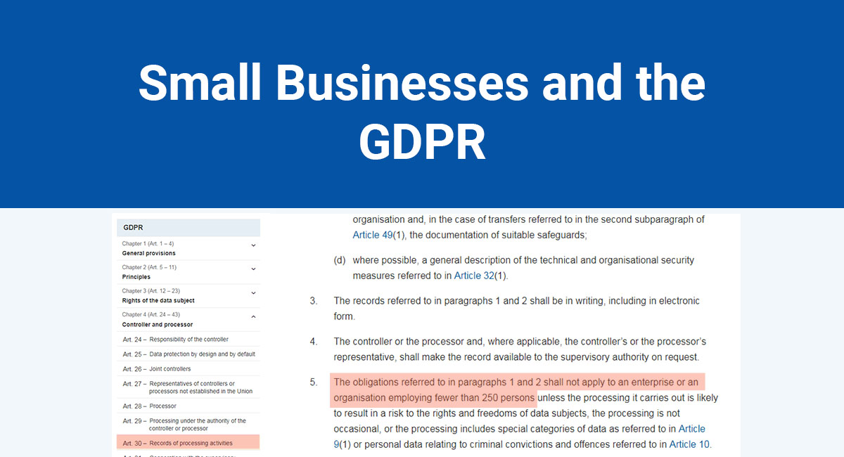 Image for: Small Businesses and the GDPR