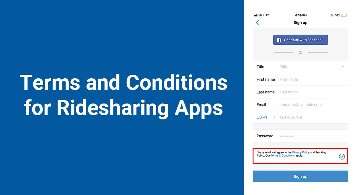 Terms and Conditions for Ridesharing Apps