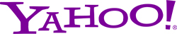 Yahoo logo in blue