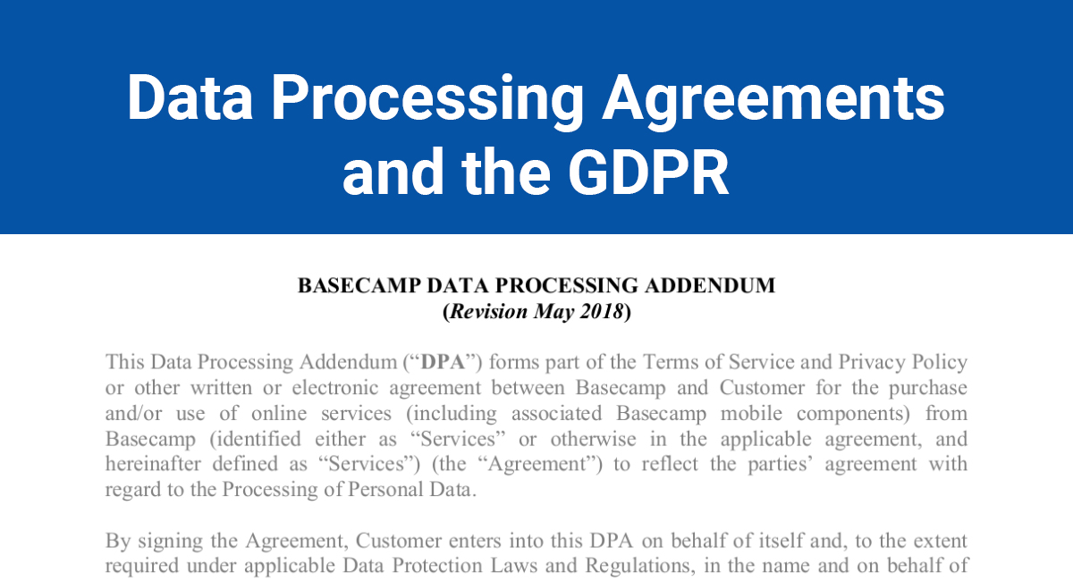 Gdpr Data Processing Agreements Termsfeed