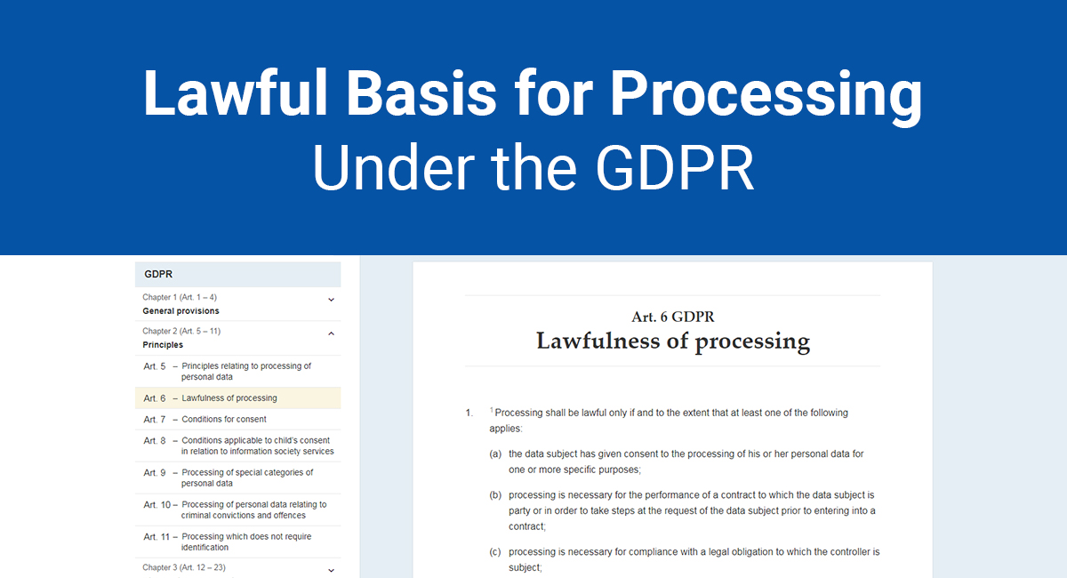 Lawful Basis for Processing Under the GDPR - TermsFeed