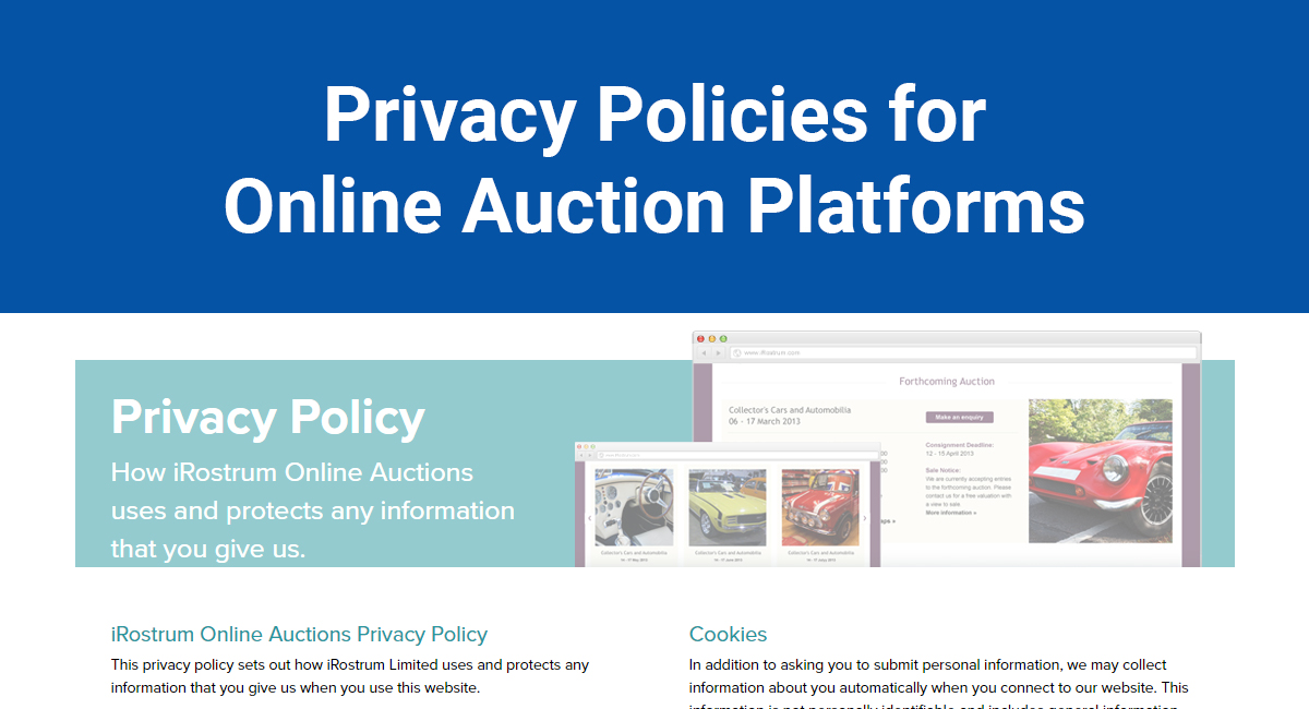 Image for: Privacy Policies for Online Auction Platforms