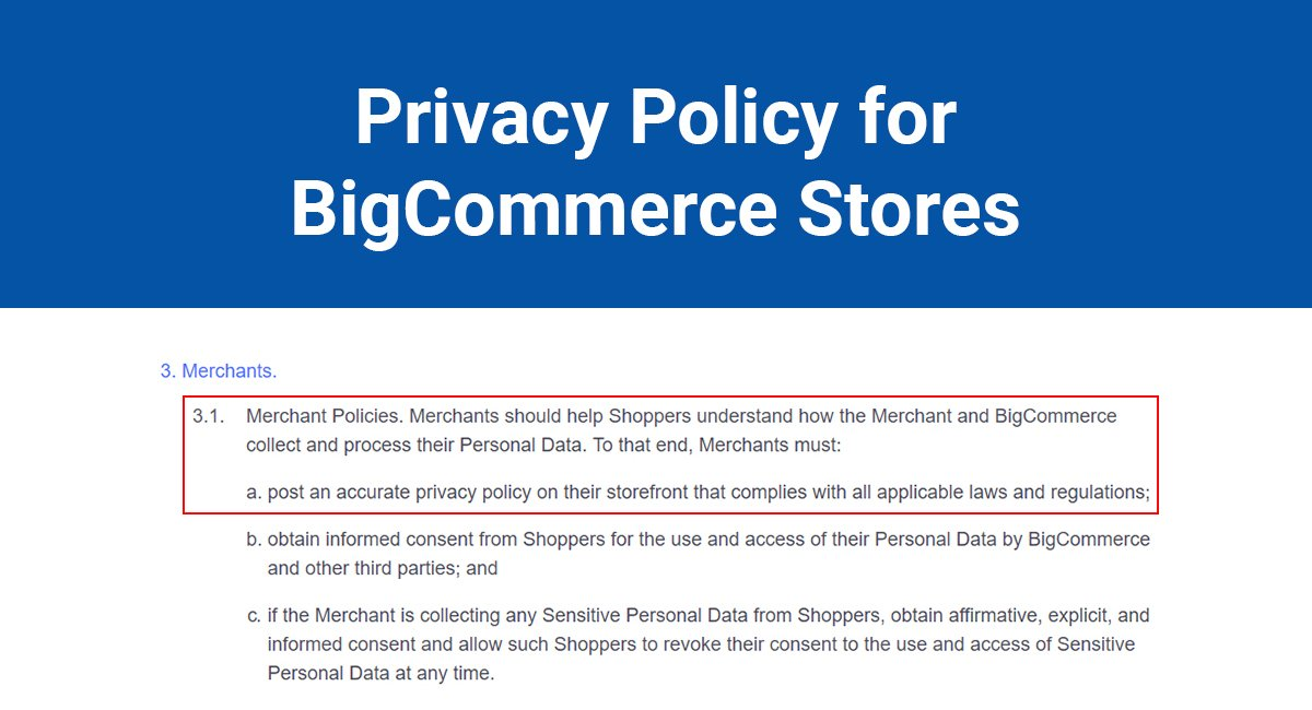 Image for: Privacy Policy for BigCommerce Stores