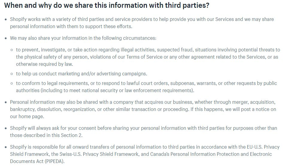 9 Privacy Clauses For A Landing Page Termsfeed