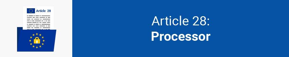 Article 28 - Processor