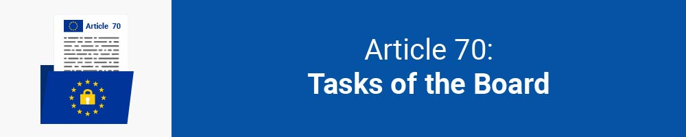 Article 70 - Tasks of the Board