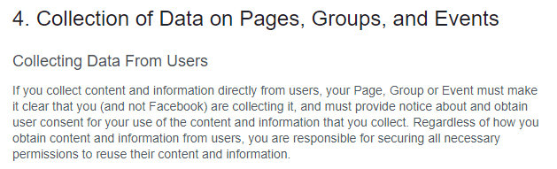 Privacy Policy For Facebook Pages Termsfeed
