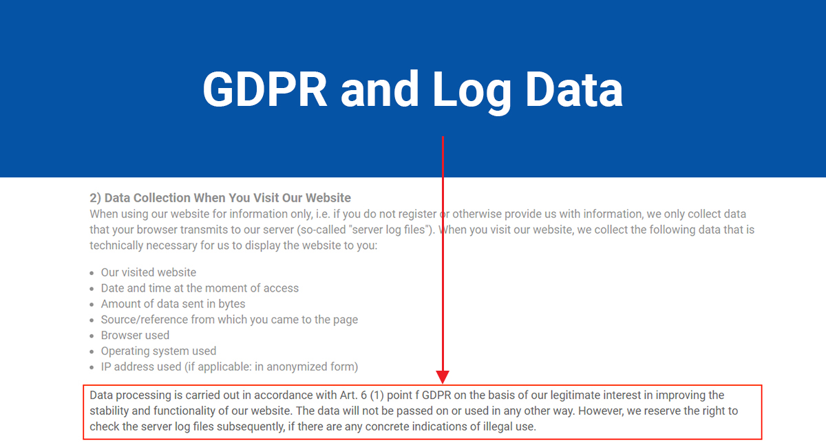 Image for: GDPR and Log Data