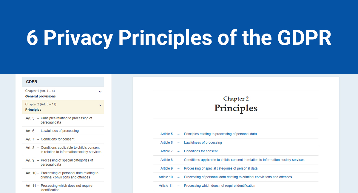 6 Privacy Principles of the GDPR