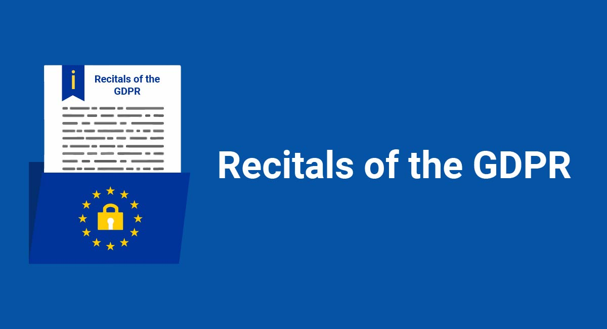Image for: Recitals of the GDPR