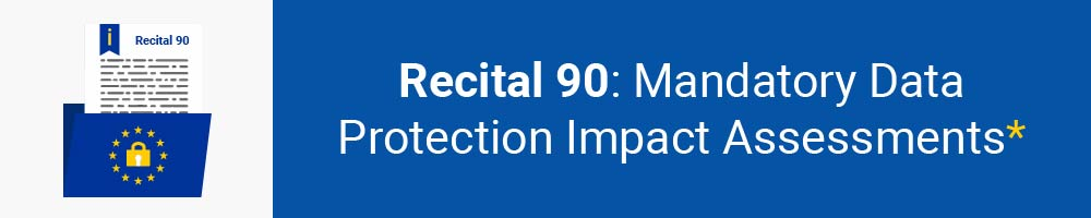 Recital 90 - Mandatory Data Protection Impact Assessments