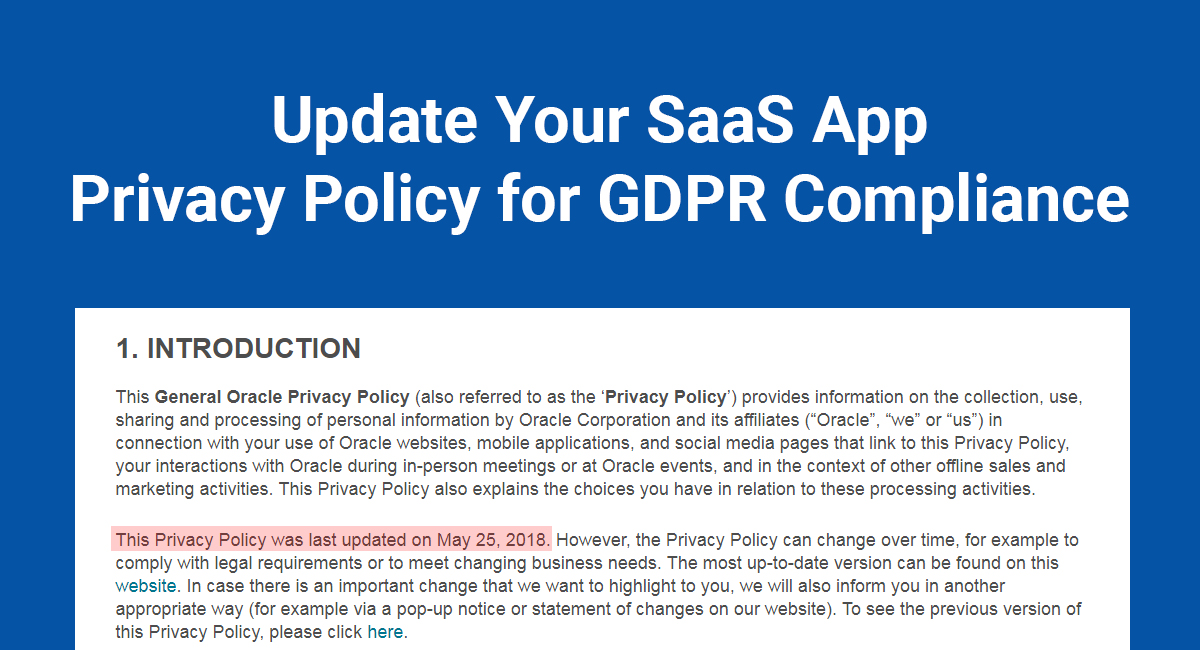 Update Your SaaS App Privacy Policy for GDPR Compliance