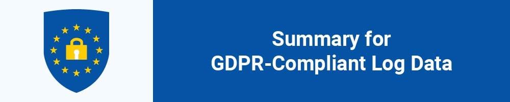 Summary for GDPR-Compliant Log Data