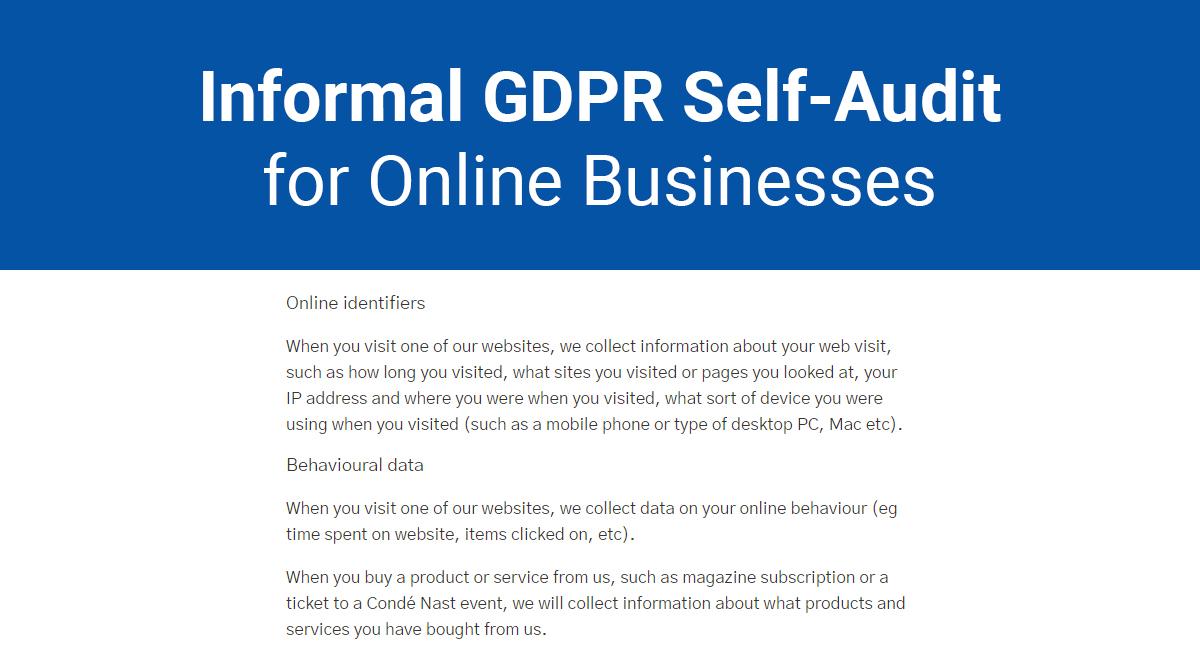 Image for: Informal GDPR Self-Audit for Online Businesses