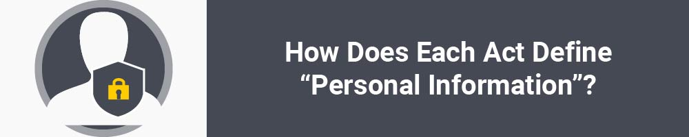 "How Does Each Act Define ""Personal Information""?"