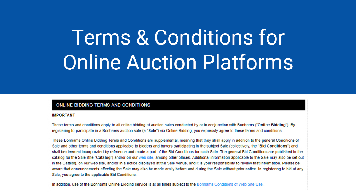 Image for: Terms and Conditions for Online Auction Platforms