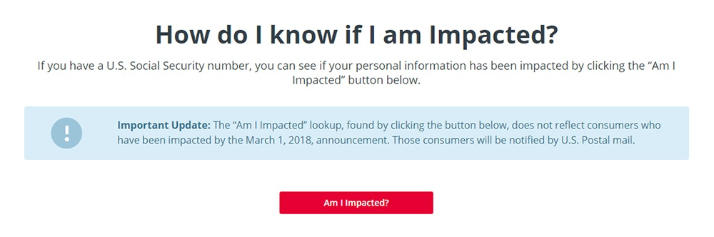 Equifax 2017 Cyber Security Incident Am I Impacted tool