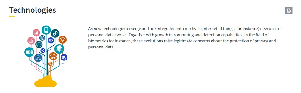 Technologies subject section intro and image from the European Data Protection Supervisor