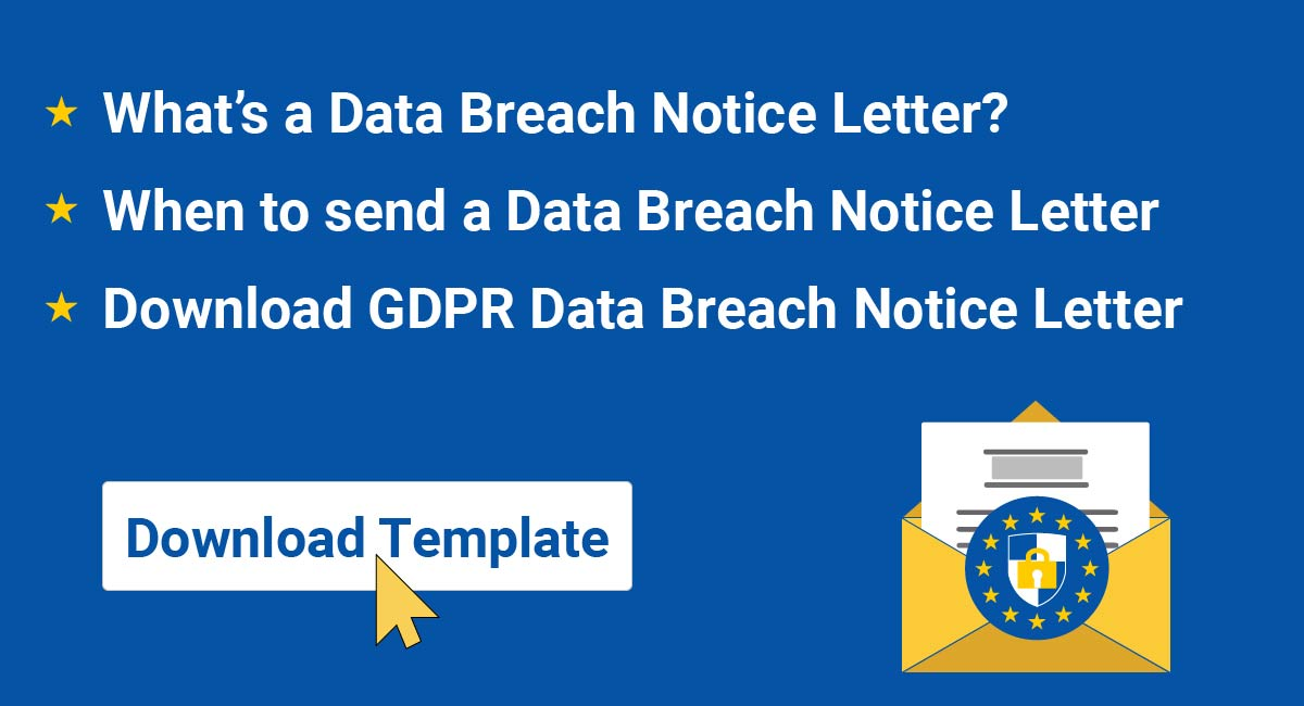 GDPR Data Breach Notice Letter
