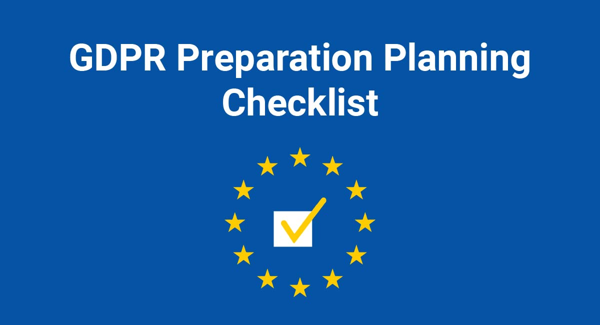 Image for: GDPR Preparation Planning Checklist