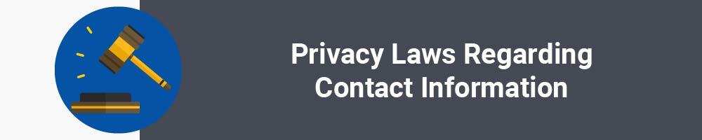 Privacy Laws Regarding Contact Information