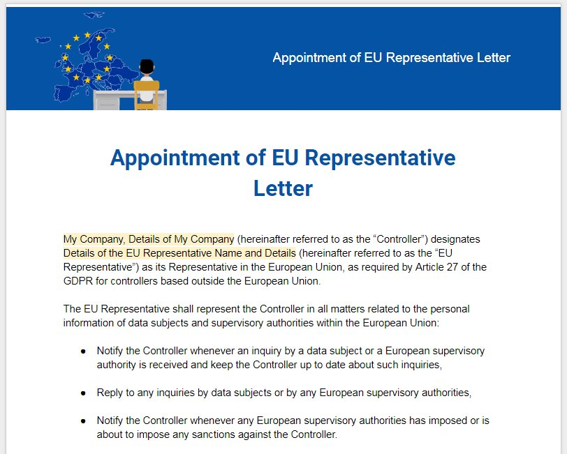 sample-gdpr-appointment-eu-representative-letter-template Template Of Legal Advice Letter on legal advice bill, legal petition, bankruptcy letter, negotiation letter, representation letter, sample personal recommendation character reference letter, legal name change, thank you for your help letter, judge letter, accommodation letter, executor letter, photography letter, legal response, due diligence letter, depression letter,