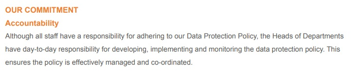 Ajenta Data Protection Policy: Our Commitment - Accountability clause