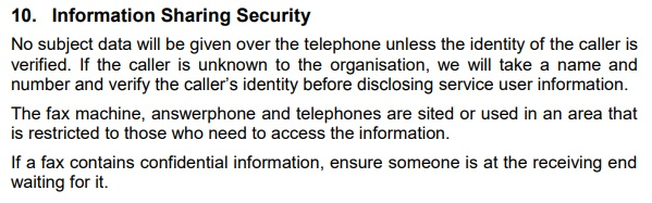 Brighton Oasis Project Data Protection and Information Sharing Policy: Information Sharing Security clause