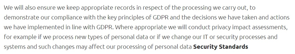 Mobivate GDPR Compliance Statement: Privacy impact assessments DPIA section