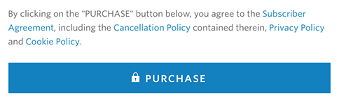 The Wall Street Journal store: Purchase button - click to agree to policies and terms