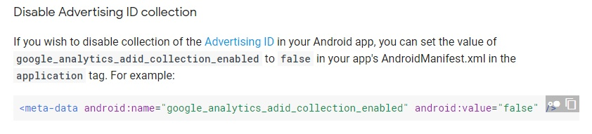 Violation of Usage of Android Advertising ID Policy - TermsFeed
