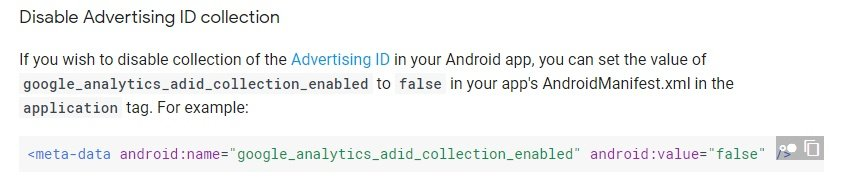 Firebase Support: Disable Analytics Collection on Android - Advertising ID