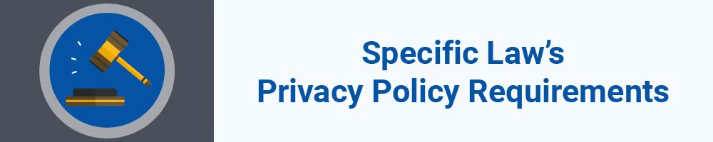 Specific Law's Privacy Policy Requirements