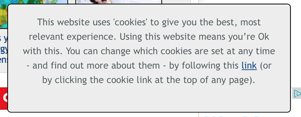 Mirror UK newspaper usage of cookies