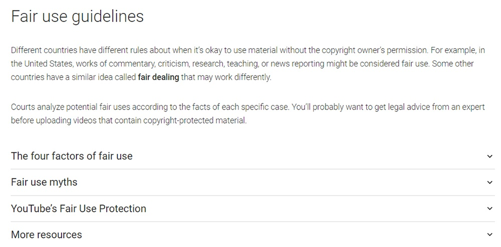 Fair Use Disclaimers - TermsFeed