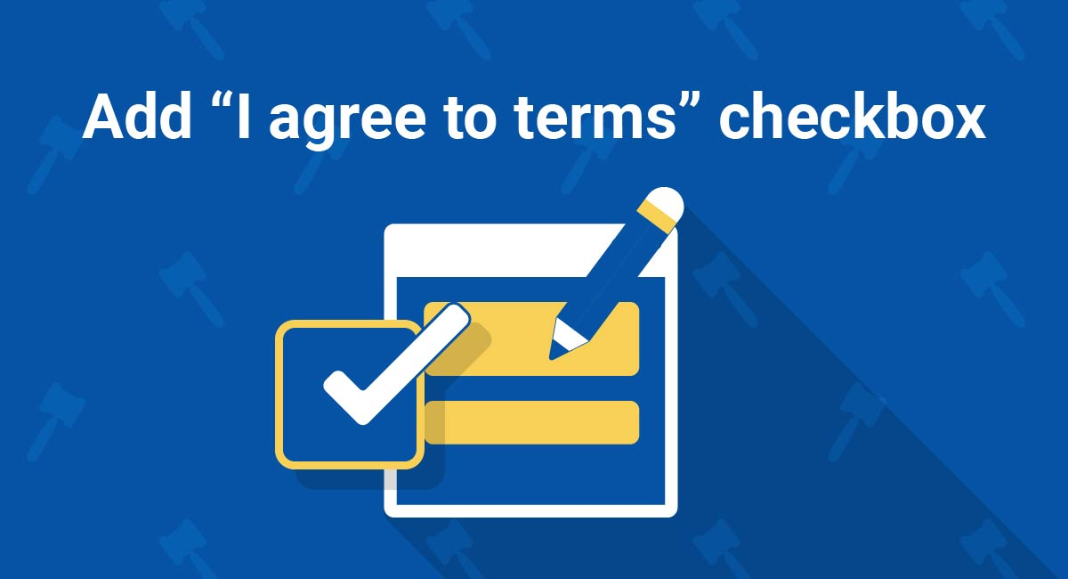 "Image for: Add ""I Agree to Terms"" Checkbox"