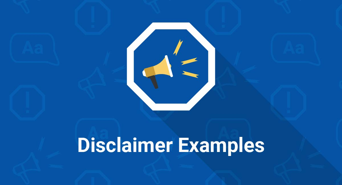 Image for: Disclaimer Examples