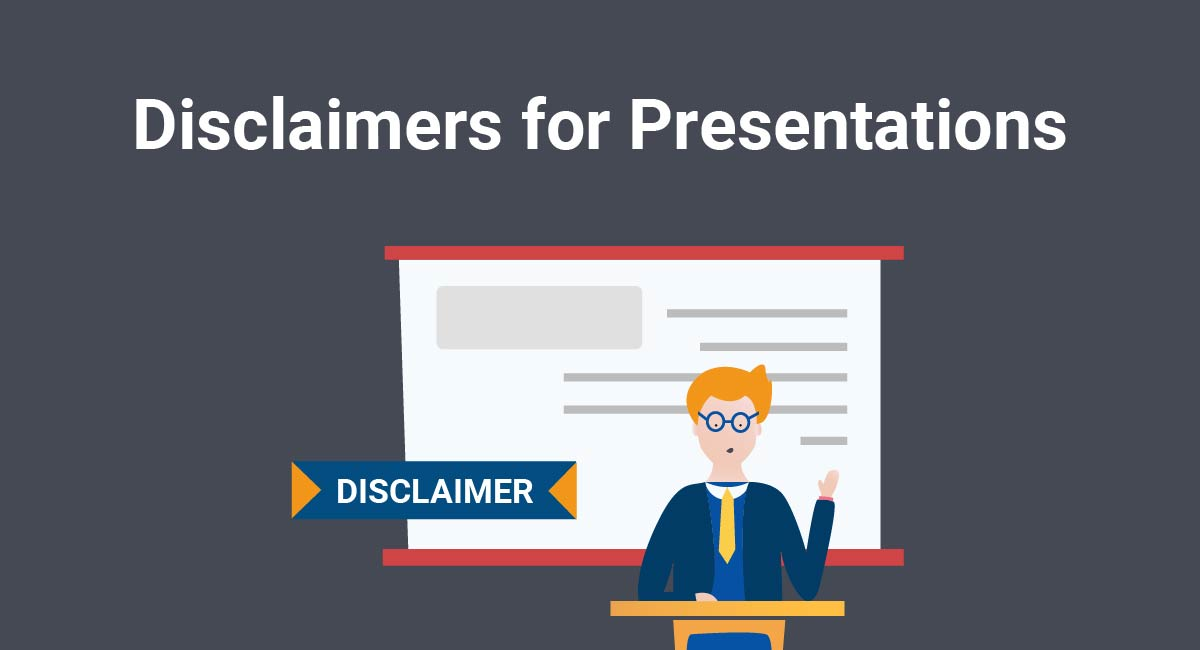 Image for: Disclaimers for Presentations