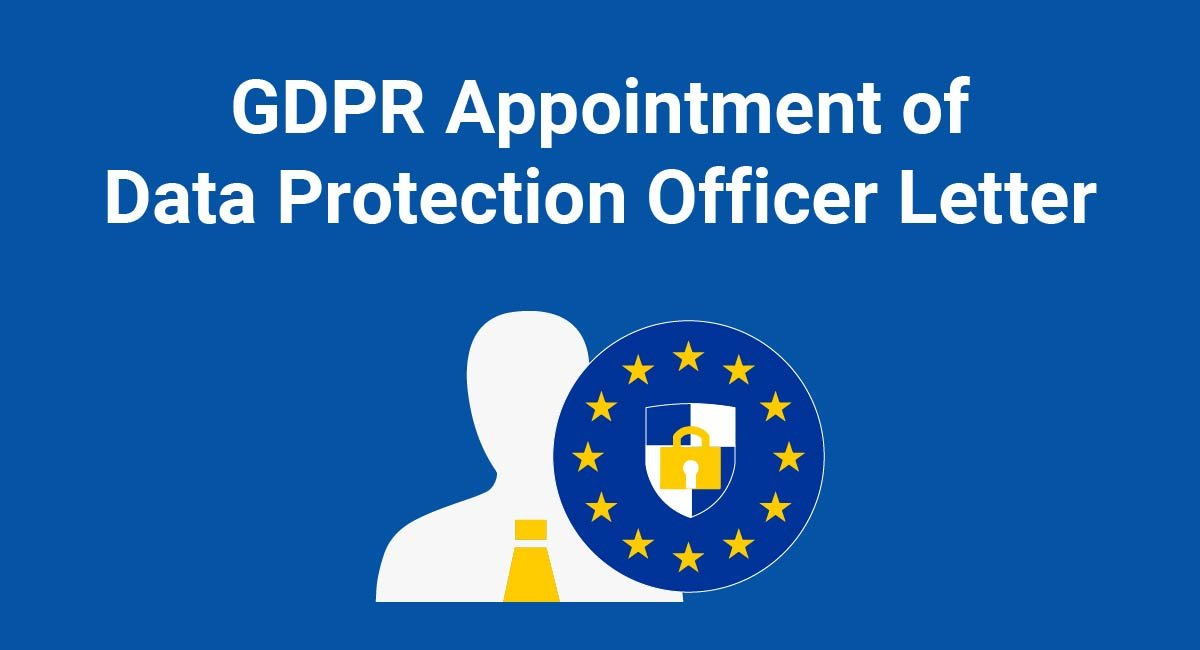 GDPR Appointment of Data Protection Officer Letter