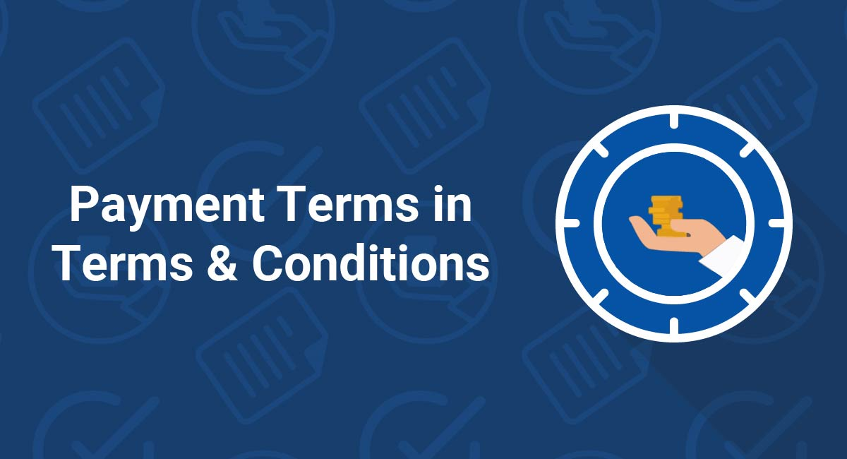 Image for: Payment Terms in Terms & Conditions