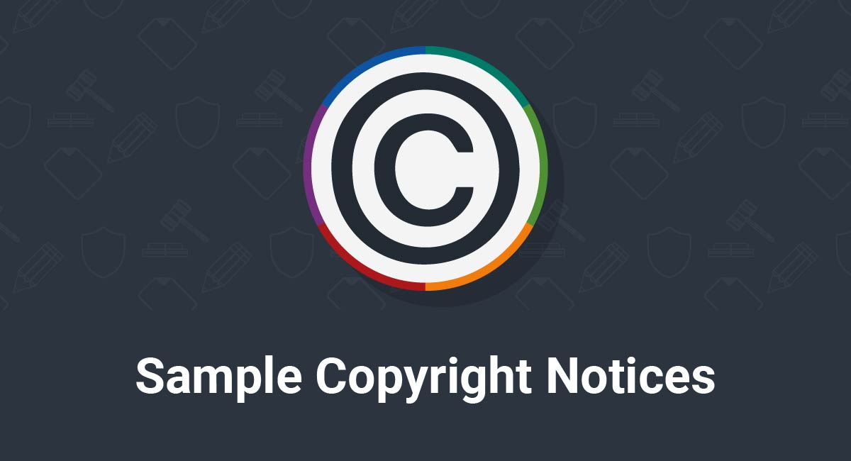 Image for: Sample Copyright Notices