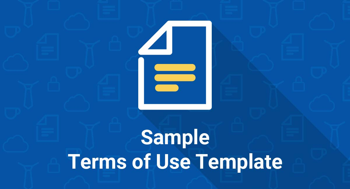 Image for: Sample Terms of Use Template